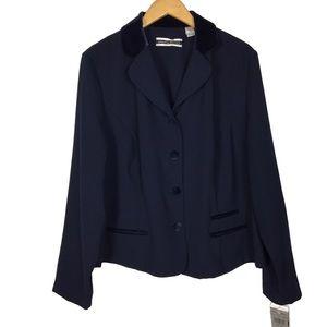 Vintage 90's velvet blazer cardigan sweater